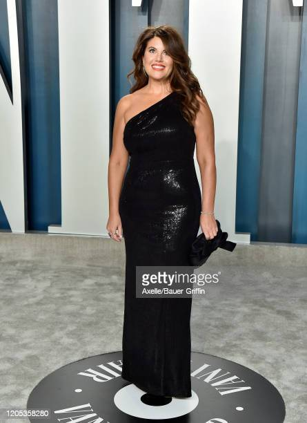 Monica Lewinsk attends the 2020 Vanity Fair Oscar Party hosted by Radhika Jones at Wallis Annenberg Center for the Performing Arts on February 09...