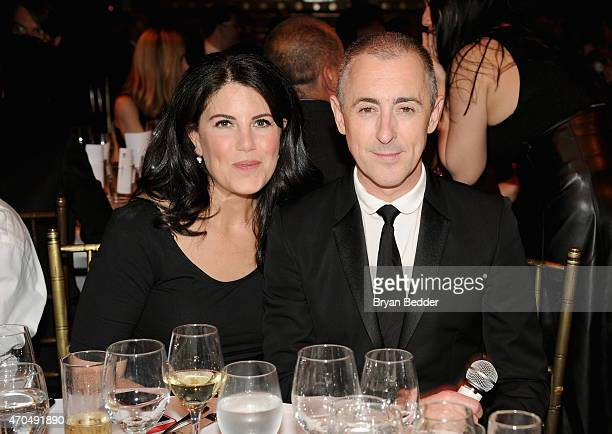 Monica Lewinsky and Alan Cumming attend the Performance Space 122 2015 Spring Gala Honoring Claire Danes at Capitale on April 20 2015 in New York City