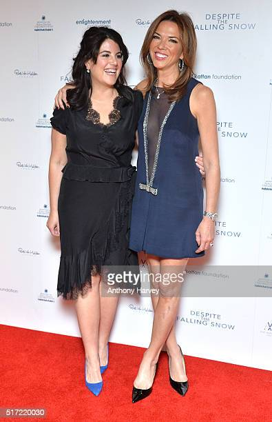 Monica Lewinsky and Heather Kerzner attend the gala screening of 'Despite The Falling Snow' on March 23 2016 in London United Kingdom