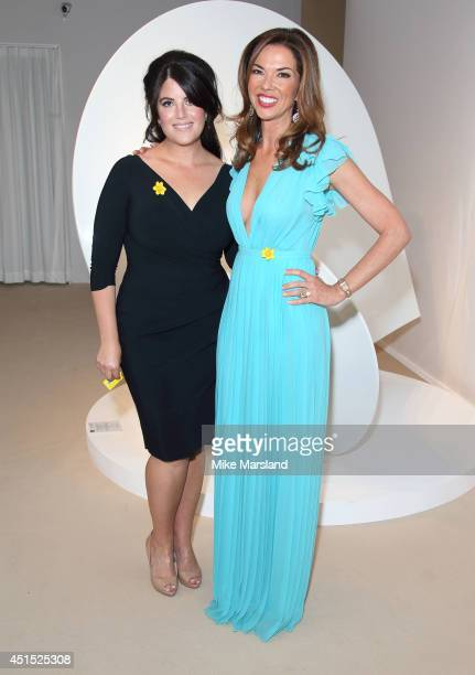 Monica Lewinsky and Heather Kerzner attend the Masterpiece Marie Curie Summer party in partnership with Jaeger LeCoultre and Heather Kerzner at The...
