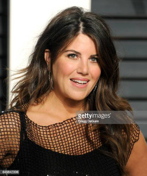Monica Lewinsky arrives at the 2017 Vanity Fair Oscar Party Hosted By Graydon Carter at Wallis Annenberg Center for the Performing Arts on February...