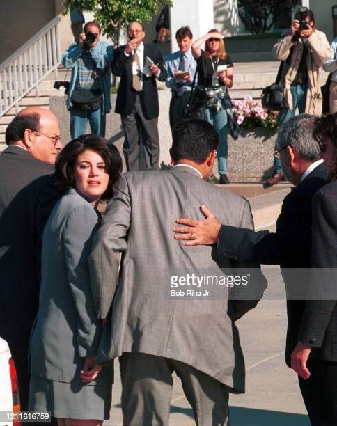 Monica Lewinsky arrives to U.S. Federal Courthouse, May 28, 1998 in Los Angeles, California.