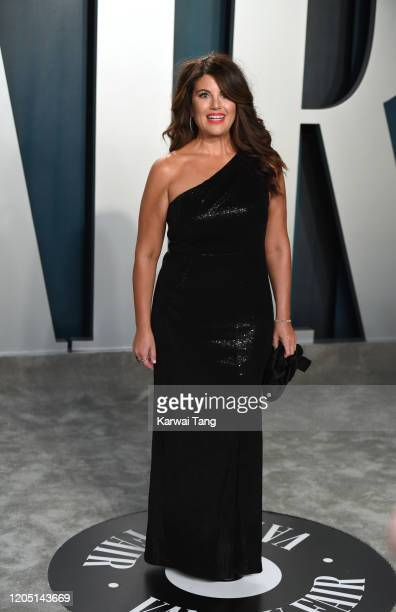 Monica Lewinsky arriving for the 2020 Vanity Fair Oscar Party Hosted By Radhika Jones at the Wallis Annenberg Center for the Performing Arts on...