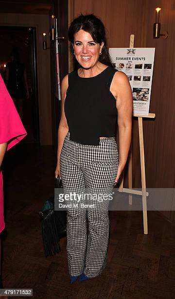 Monica Lewinsky attends a dinner following the private view of 'Raw Footage' at The Cafe Royal on July 1 2015 in London England
