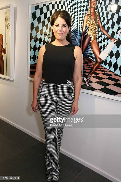 Monica Lewinsky attends a private view of 'Raw Footage' at The Opera Gallery on July 1 2015 in London England