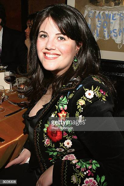 Monica Lewinsky attends Entertainment Weekly's 'LA Can't Have All The Fun' 10th Anniversary Oscar Party at Elaine's on February 29 2004 in New York...
