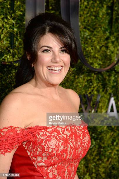 Monica Lewinsky attends the 2015 Tony Awards at Radio City Music Hall on June 7 2015 in New York City