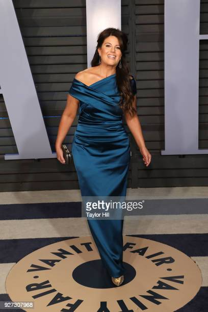 Monica Lewinsky attends the 2018 Vanity Fair Oscar Party following the 90th Academy Awards at The Wallis Annenberg Center for the Performing Arts in...