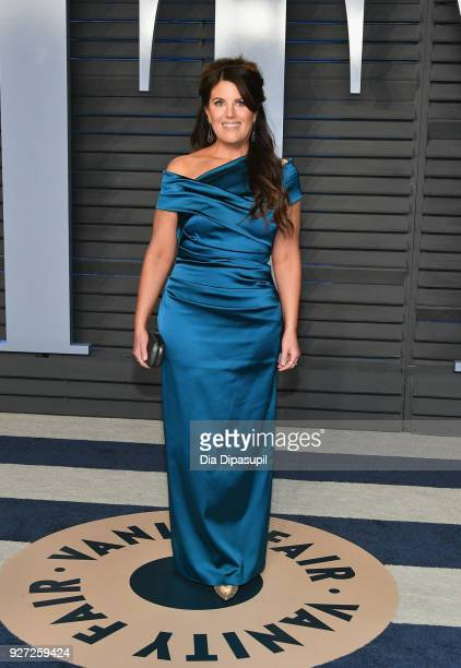 Monica Lewinsky attends the 2018 Vanity Fair Oscar Party hosted by Radhika Jones at Wallis Annenberg Center for the Performing Arts on March 4, 2018...