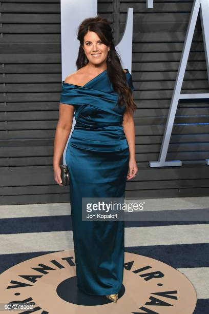 Monica Lewinsky attends the 2018 Vanity Fair Oscar Party hosted by Radhika Jones at Wallis Annenberg Center for the Performing Arts on March 4 2018...