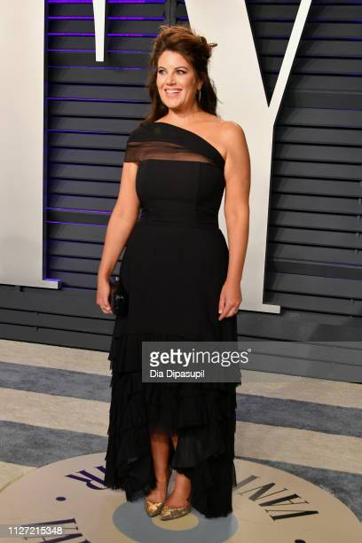 72a9615163b5 Monica Lewinsky attends the 2019 Vanity Fair Oscar Party hosted by Radhika  Jones at Wallis Annenberg