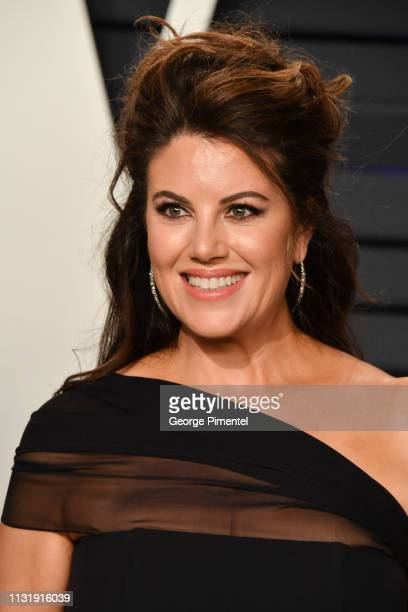 Monica Lewinsky attends the 2019 Vanity Fair Oscar Party hosted by Radhika Jones at Wallis Annenberg Center for the Performing Arts on February 24...