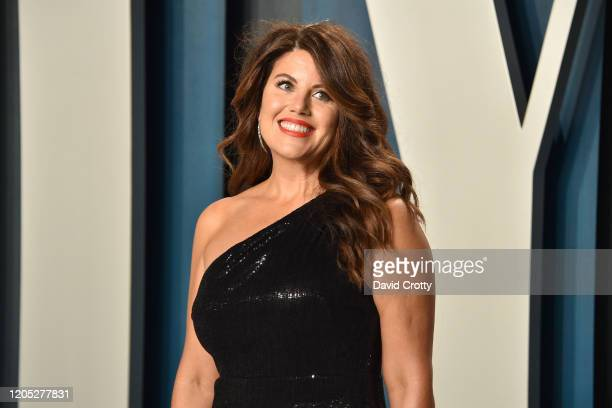 Monica Lewinsky attends the 2020 Vanity Fair Oscar Party at Wallis Annenberg Center for the Performing Arts on February 09 2020 in Beverly Hills...