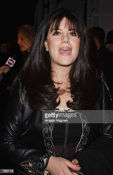 Monica Lewinsky attends the Luca Luca Fashion Show February 12 2002 in New York City