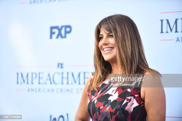 """Monica Lewinsky attends the premiere of FX's """"Impeachment: American Crime Story"""" at Pacific Design Center on September 01, 2021 in West Hollywood,..."""