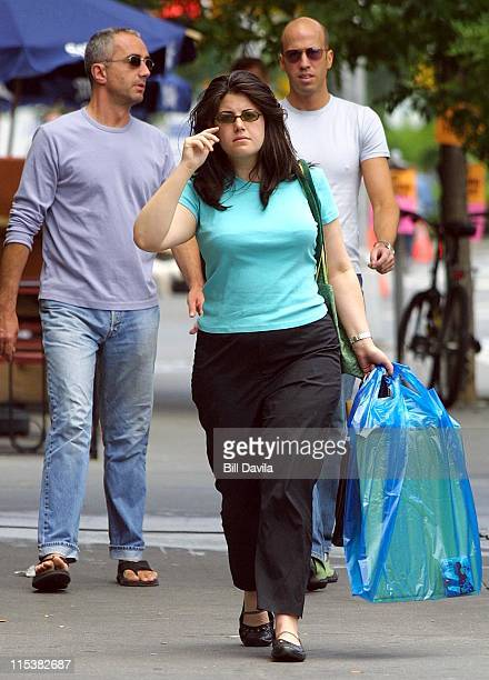 Monica Lewinsky during Monica Lewinsky Out and About in Greenwich Village at Greenwich Village in New York City New York United States