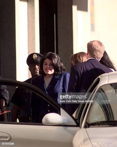 Monica Lewinsky enters federal court on Thursday, August 6 in Washington, D.C.