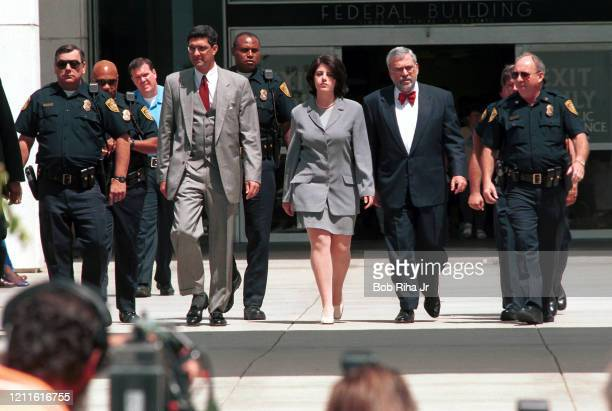 Monica Lewinsky leaves U.S. Federal Courthouse, May 28, 1998 in Los Angeles, California.