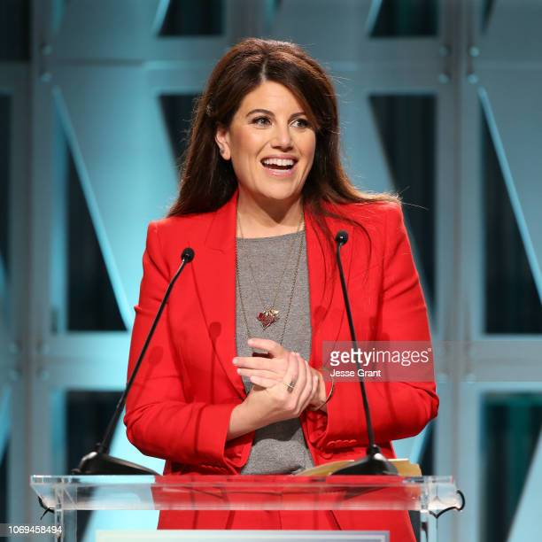 Monica Lewinsky speaks onstage during The Hollywood Reporter's Power 100 Women In Entertainment at Milk Studios on December 5 2018 in Los Angeles...