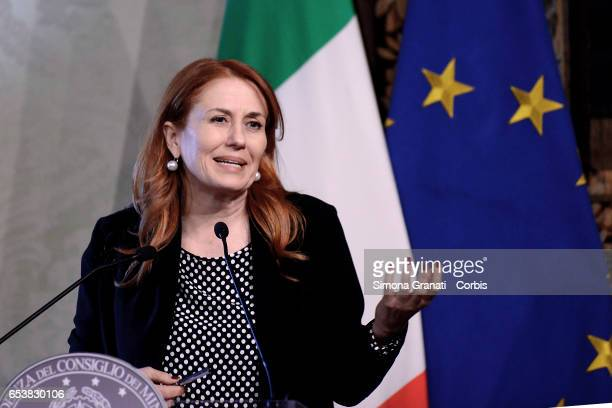 Monica Maggioni President of Rai during the presentation of the 25th edition of 'Spring Days of FAI 'on March 14 2017 in Rome Italy