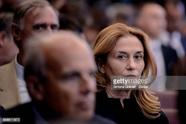 Monica Maggioni President of RAI takes part in the AntiCorruption Authority's Annual Report to Parliament at the Senate of the Republicon July 14...