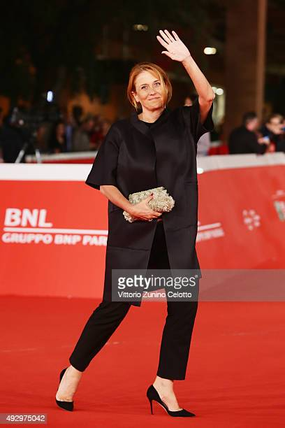 Monica Maggioni walks the red carpet for 'Truth' during the 10th Rome Film Fest at Auditorium Parco Della Musica on October 16 2015 in Rome Italy