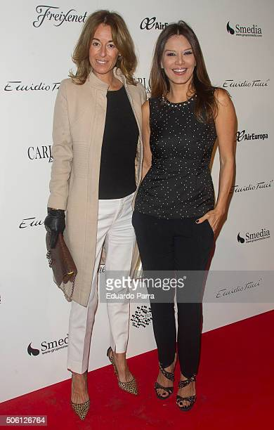 Monica Martin Luque and Ivonne Reyes attend Carlos Marin concert photocall at Compac theatre on January 21 2016 in Madrid Spain