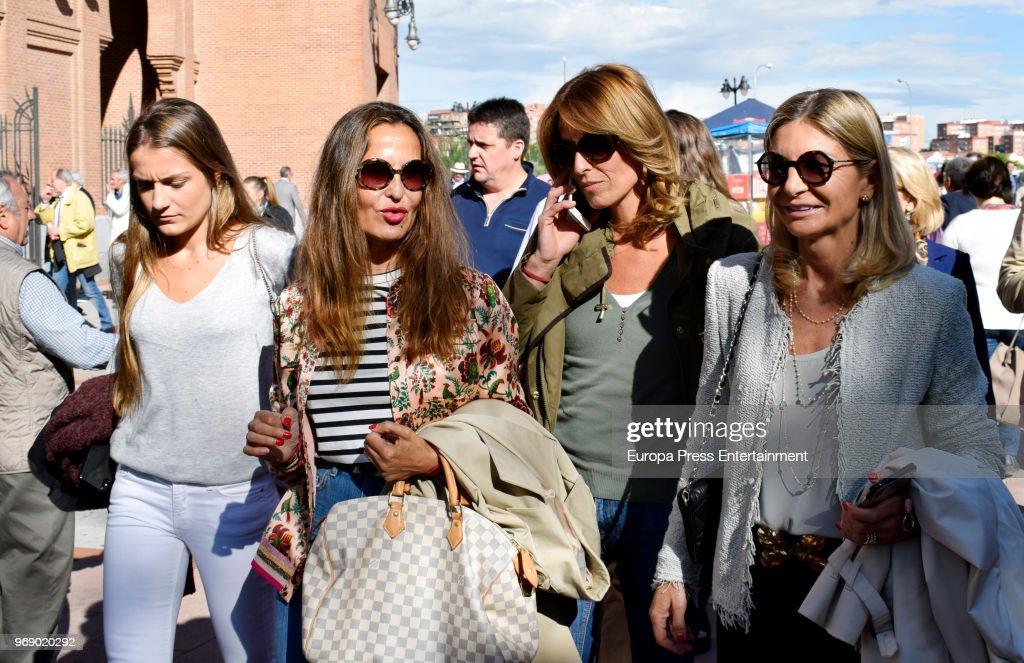Monica Martin Luque (2R) attends La Beneficiencia Bullfight at Las Ventas Bullring on June 6, 2018 in Madrid, Spain.