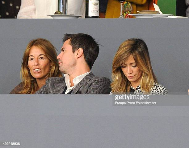 Monica Martin Luque Curi Gallardo and Marta Gonzalez are seen at Madrid Horse Week on November 29 2015 in Madrid Spain