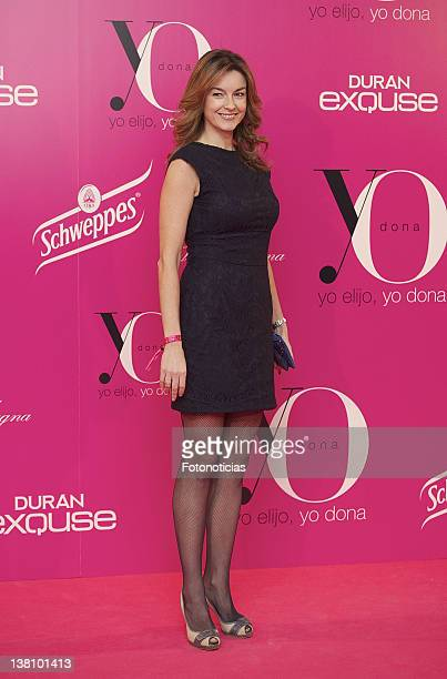 Monica Martinez attends 'Yo Dona' MercedesBenz Fashion Week Madrid Opening Cocktail at the Villamagna Hotel on February 2 2012 in Madrid Spain