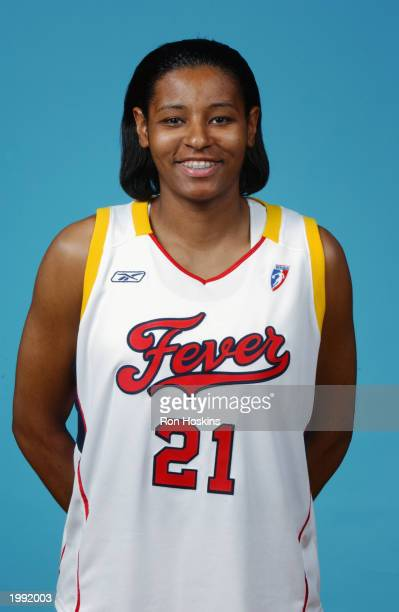 Monica Maxwell of the Indiana Fever during the Fever Media Day portrait shoot on May 6 2003 in Indianapolis Indiana NOTE TO USER User expressly...