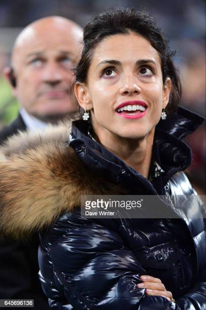 Monica McCourt wife of Marseille owner Frank McCourt during the French Ligue 1 match Marseille and Paris Saint Germain at Stade Velodrome on February...