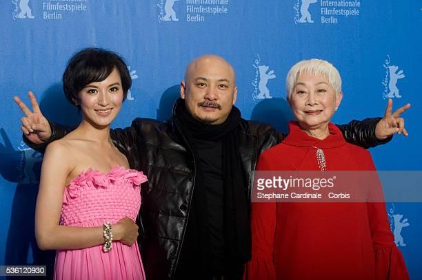 "Monica Mo, Wang Quan'an and Lisa Lu at the photo call of ""Tuan Yuan"" during the 60th Berlin International Film Festival."