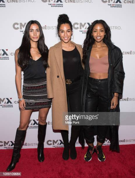 "Monica Montano, Sharlene Radlein and Olay Noel attend the opening of CMX CineBistro with special screenings of ""BlacKkKlansman"", ""City Lights"" &..."