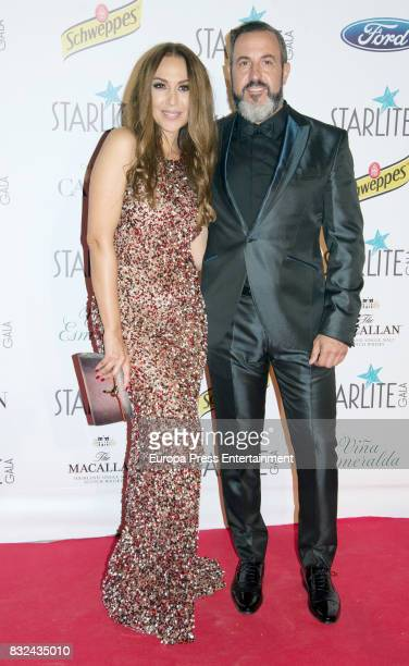 Monica Naranjo and Oscar Tarruella attend Starlite Gala on August 13 2017 in Marbella Spain