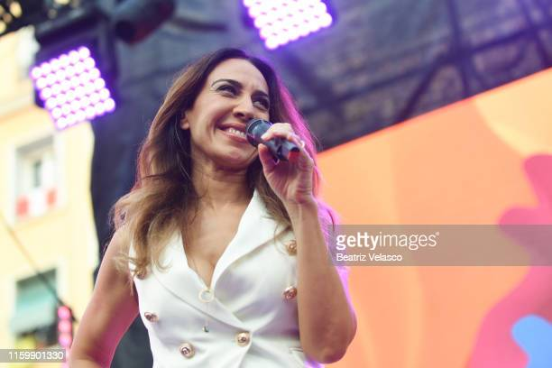Monica Naranjo attends the MADO Gay Pride Opening Speech 2019 at Pedro Zerolo Square on July 03 2019 in Madrid Spain