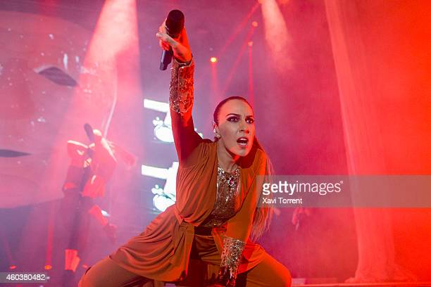 Monica Naranjo performs in concert at Sant Jordi Club on December 12 2014 in Barcelona Spain