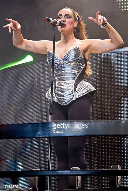 Monica Naranjo performs live during the concert Idolos at the Palace of Sports on June 28 2013 in Mexico City Mexico