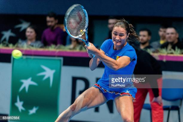 Monica Niculescu during the FED Cup by BNP 2017 game between Romania and Belgium at Sala Polivalenta Bucuresti Romania ROU on February 11 2017