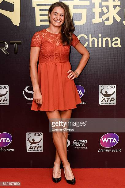 Monica Niculescu of Romania arrives at the 2016 China Open Player Party at The Birds Nest on October 3 2016 in Beijing China