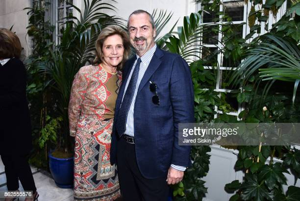 Monica Noel and Carlo Traglio attend QUEST VHERNIER Host Luncheon at MAJORELLE at Majorelle on October 17 2017 in New York City