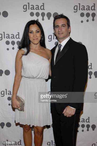 Monica Noguera and Neil Giuliano during 18TH ANNUAL GLAAD MEDIA AWARDS Miami at JW Marriott in Miami Florida United States