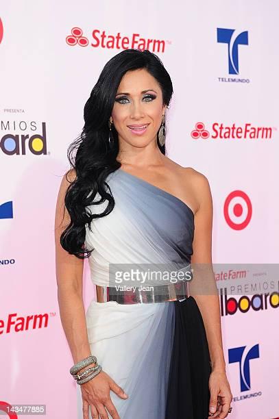 Monica Noguera arrives at Billboard Latin Music Awards 2012 at Bank United Center on April 26 2012 in Miami Florida
