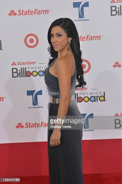 Monica Noguera arrives at the Billboard Latin Music Awards 2012 at Bank United Center on April 26 2012 in Miami Florida