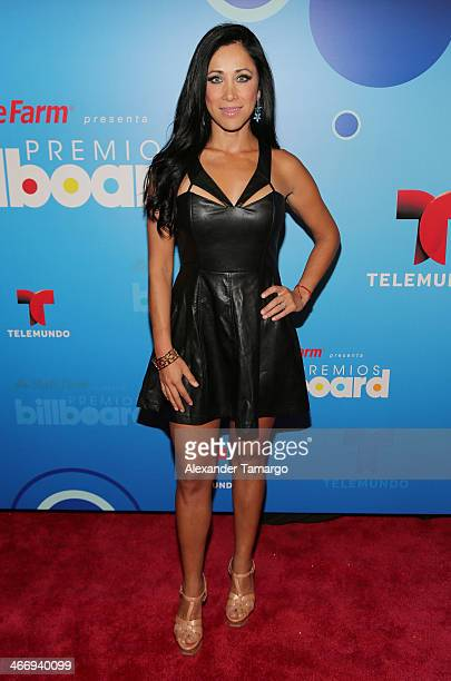 Monica Noguera attends 2014 Billboard Latin Music Awards Press Conference to announce finalists at Gibson Miami Showroom on February 5 2014 in Miami...
