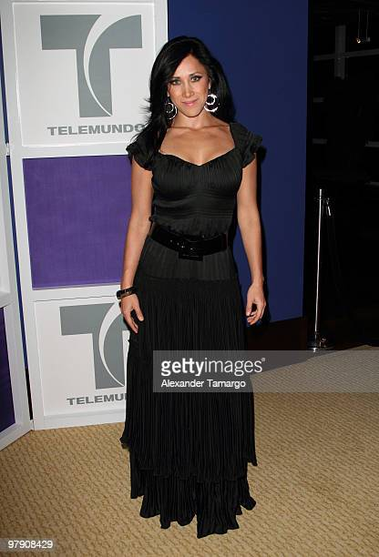 Monica Noguera attends Telemundo's annual gala for the Women of Tomorrow Mentor Scholarship Program at Mandarin Oriental on March 20 2010 in Miami...