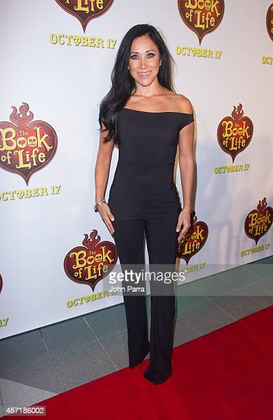 Monica Noguera attends The Book Of Life red carpet screening at Regal South Beach on October 13 2014 in Miami Florida