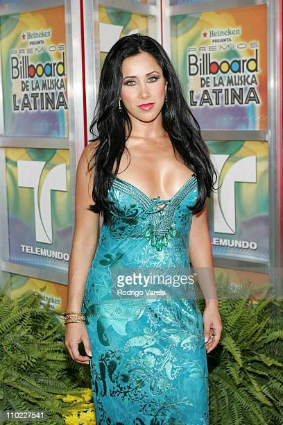 Monica Noguera during 2005 Billboard Latin Music Awards Arrivals at Miami Arena in Miami Florida United States