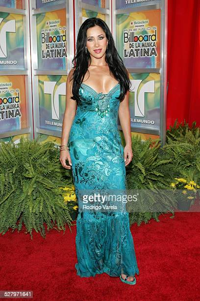 Monica Noguera during 2005 Billboard Latin Music Awards Arrivals at Miami Arena in Miami Florida United States