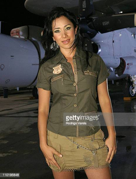Monica Noguera during 'A Tribute To Our Heroes' Backstage at Naval Station Norfolk in Norfolk Virginia United States